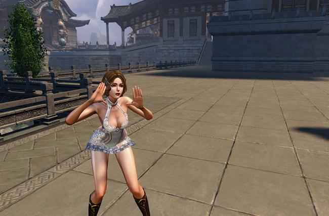 龙剑女角色挑逗舞蹈