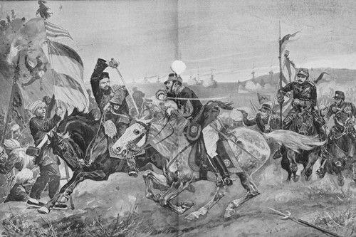 1894年9月15日,平壤战役打响。清军现状并不乐观,李鸿章任命败将叶志超担任在朝清军总指挥,引起其他各将领不满,军内风纪涣散、士气低下。但在战争进程中,清军凭借堡垒防御占有较大优势,打退日军多次进攻。图为平壤战役图。供图:《甲午:120年前的西方媒体观察》