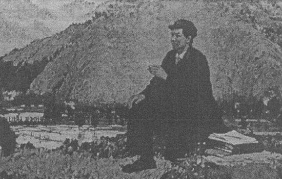 毛泽东同志在井冈山上,1959年绘制的油画