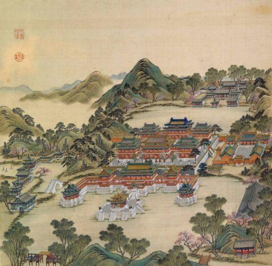 《圆明园四十景图咏》中的方壶胜境。
