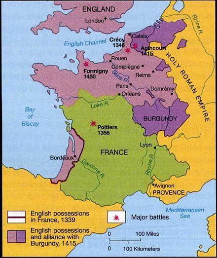 百年战争中英国与法国