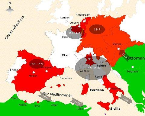 查理五世时期的西班牙帝国
