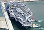 美国海军华盛顿号航母抵达韩国将参军演