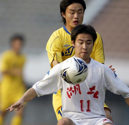 中国大学生足球联赛第8届最佳球员--刘智明(图)