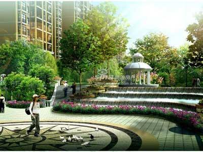 图为悦溪公寓园林效果图图片
