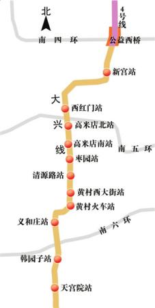 图为大兴线地铁线路图-城南3线轨道交通年内通车 乐居推荐周边10热盘图片