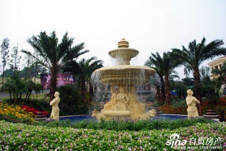 欧式园林喷泉设计尽显奢华