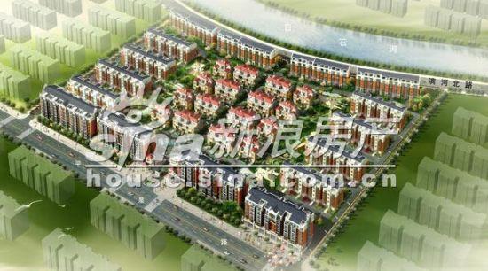 25%,简约欧式风格建筑,低层低密度,高绿化率,高品质,由花园洋房,联排