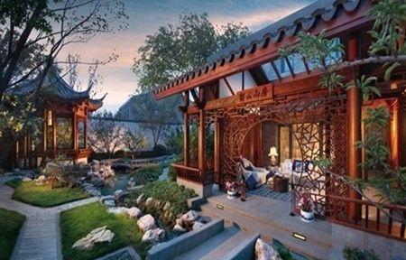 欧式别墅花园实景