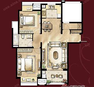 尚品优居 2房2厅1卫 建筑面积约105�O