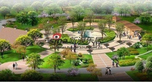 中心景观广场效果图
