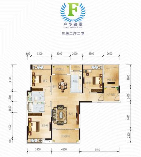 农村三房两厅设计图 三房两厅户型图 100平三室一厅