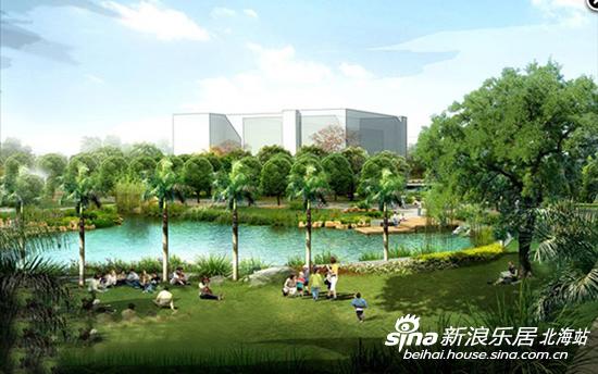 小区景观为清华大学景观设计教授指导设计,20亩的天然水上公园与小区
