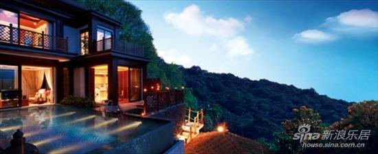 图为 那香山雨林别墅夜景效果图片
