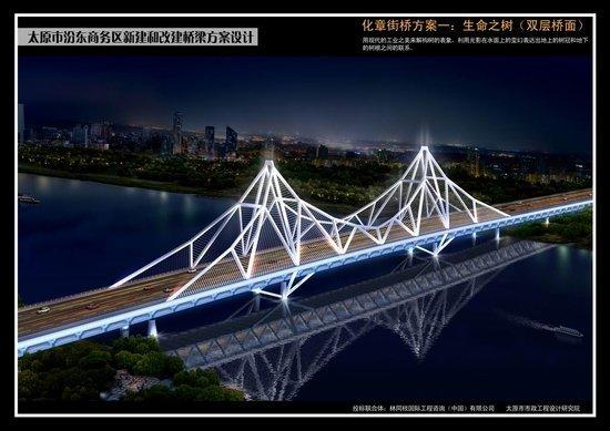 汾东商务区四大桥梁设计方案公示