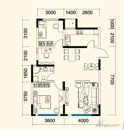 我需要设计一个农村房屋长16米宽6米的设计图