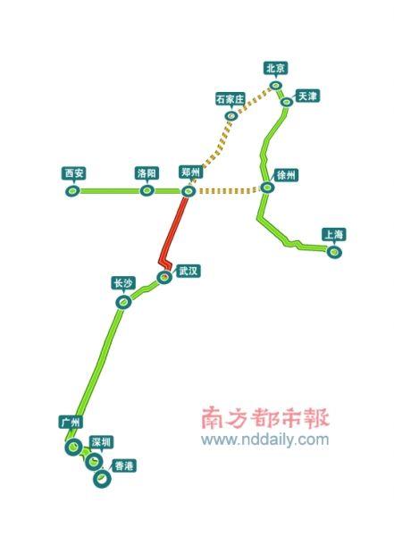漯河至西安铁路地图