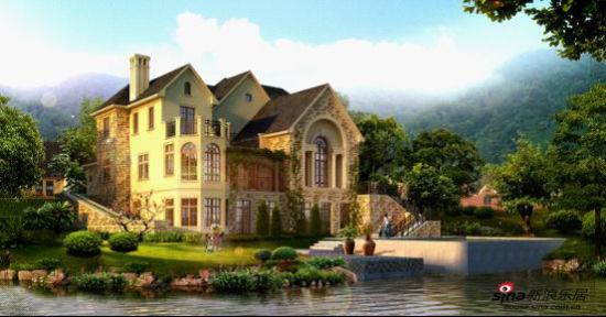 带有欧式风格的别墅深