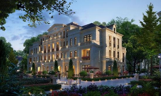 飘檐,斜屋顶,浮雕等构件,赋予建筑优雅高贵的外在美,量体裁衣的设计图片