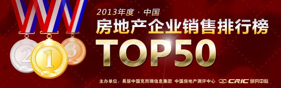 2013年中国房地产企业销售排行榜