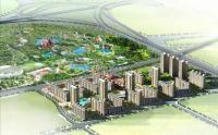 北京华侨城 规划图 白天鸟瞰