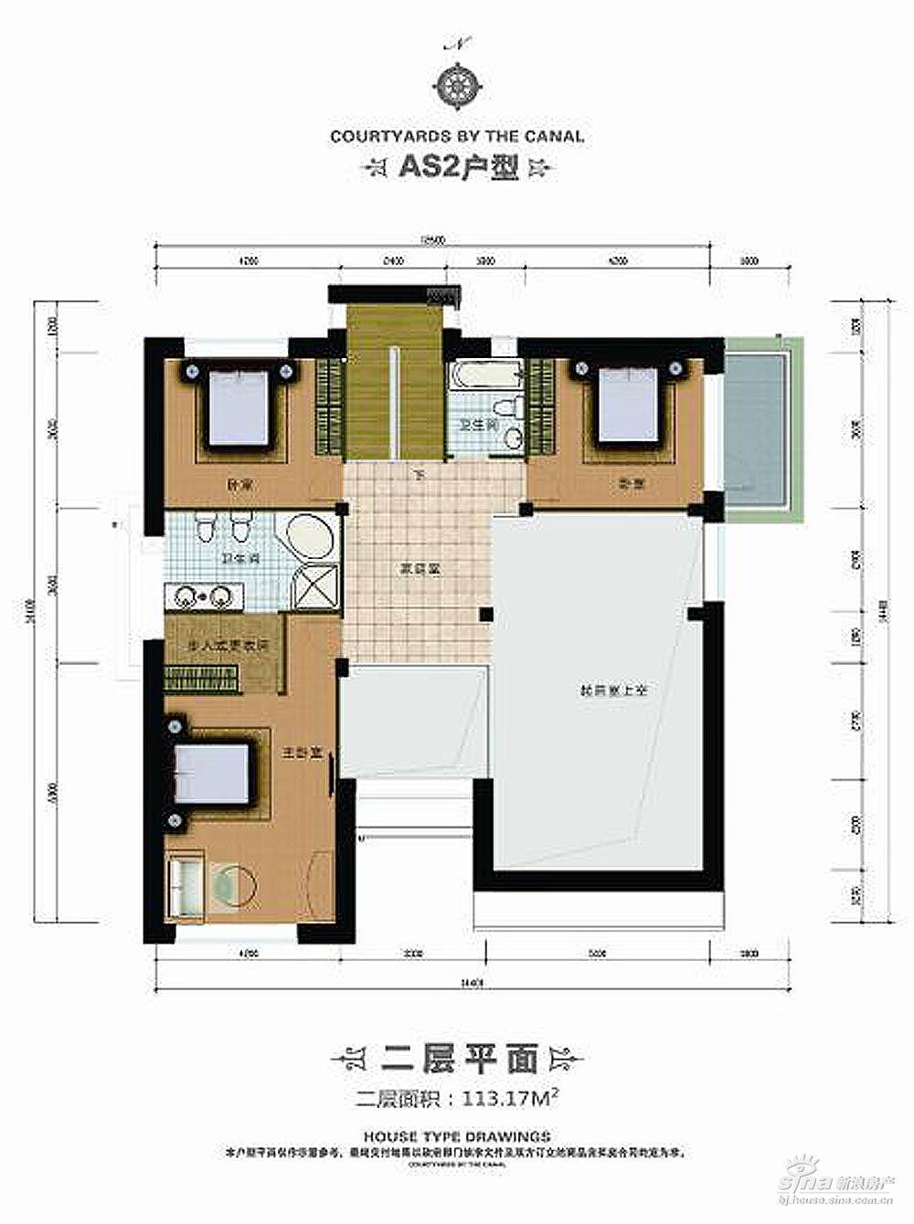 经典农村三合院别墅设计图,新中式堂屋,一层设计简单舒适 宽640×427图片
