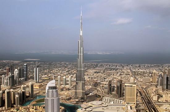 全球第一高楼迪拜塔4日举行落成仪式(图)