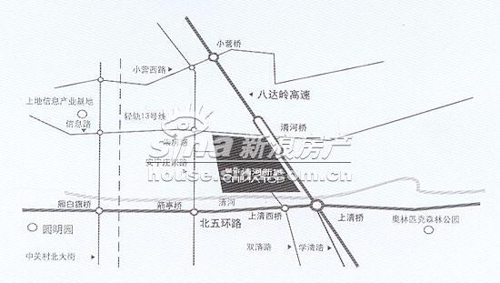 清河新城 交通图 地图