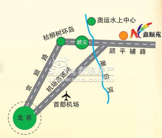 鑫顺苑 交通图 地图