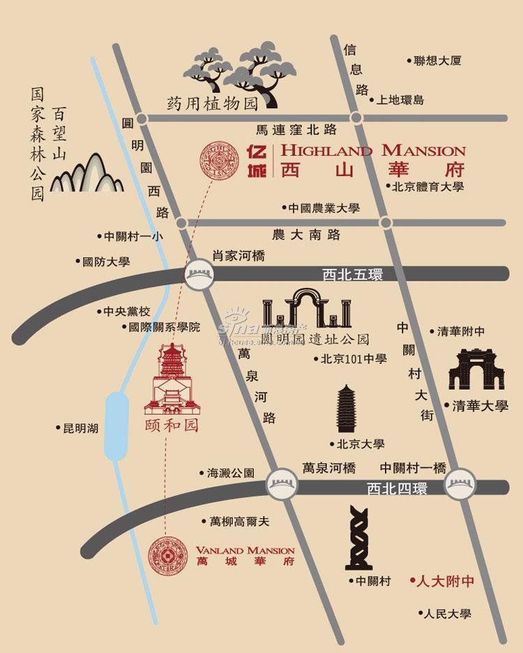 亿城西山华府 交通图 地图