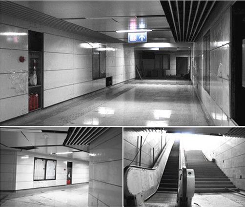 金沙湖站地铁内部