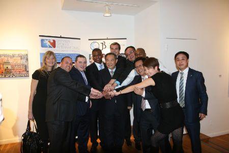 中国世界和平基金会率团访问联合国