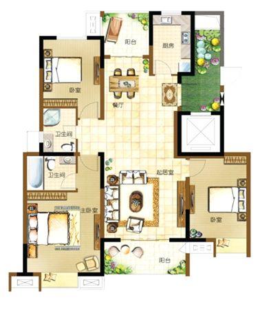 130平方别墅平面设计图