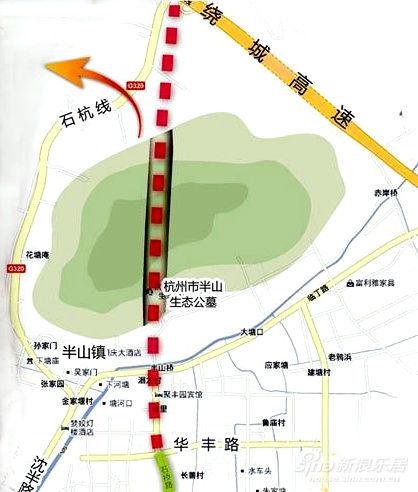 超山风景区地图