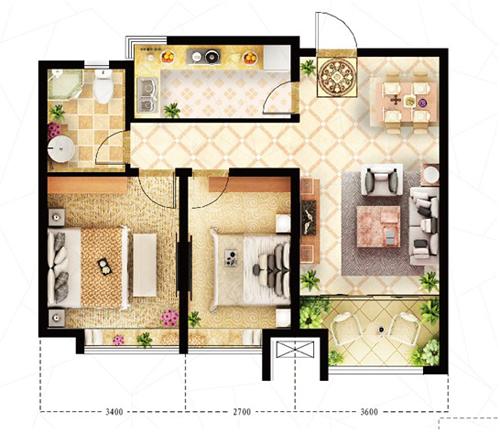 90平楼中楼设计平面图