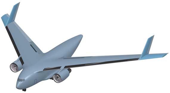 半飞翼远程战略运输机立体图