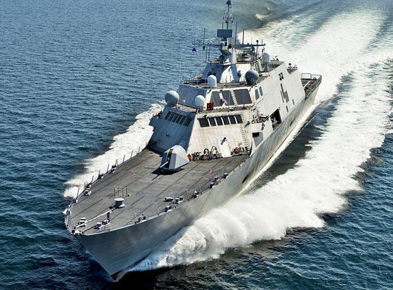 资料图:美国海军LCS-1自由号滨海战斗舰