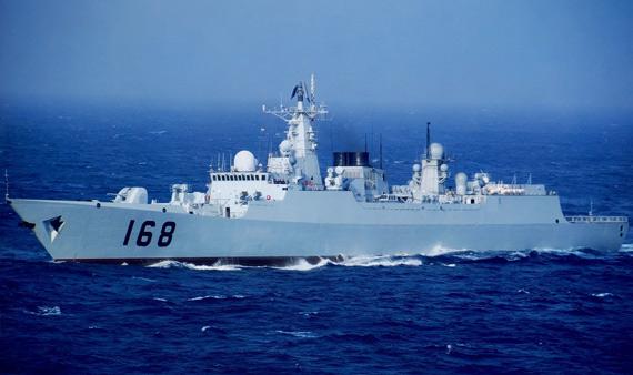 资料图:中国海军052B级168号导弹驱逐舰巡航