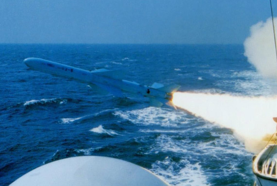 Data Figure: China's navy launched Eagle anti-ship missiles