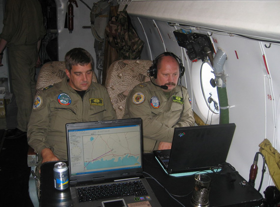 Data for: Russian Air Force plane in the working of the officers