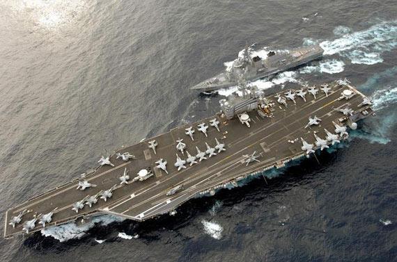 资料图:美国媒体称中国反航母弹道导弹将使美军航母战斗群面临很大风险