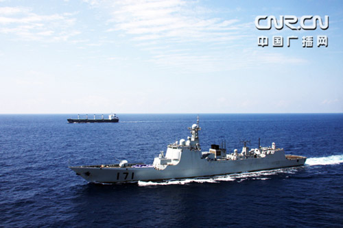 2009 年 4 January, 36 Chinese naval fleet convoy escort, the former as the