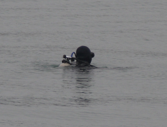 Chinese navy frog person is performing security tasks Photography: Du Changjun