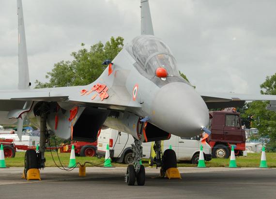 资料图:印度空军苏-30MKI战斗机