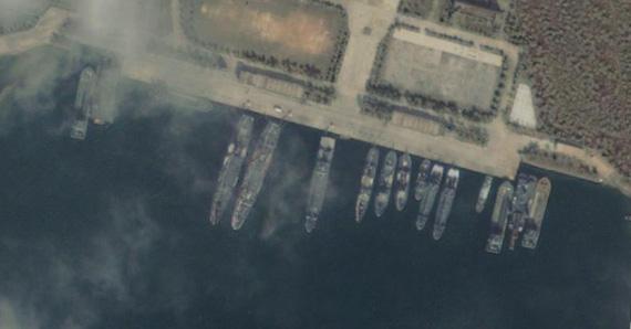 中国海军三亚海军基地卫星图
