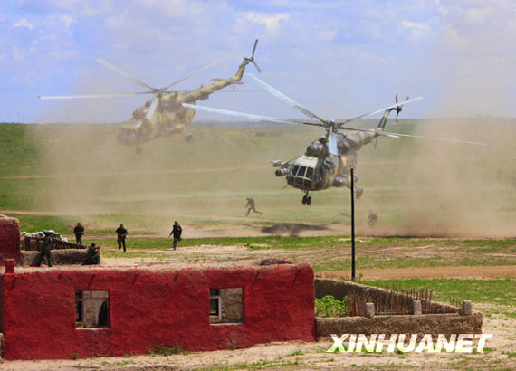 July 21, Russian special forces by helicopter landing operations
