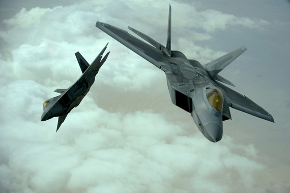 Data for: U.S. Air Force F- 22A stealth fighter