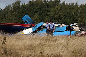 俄勇士飞行表演队苏-27战机相撞现场图