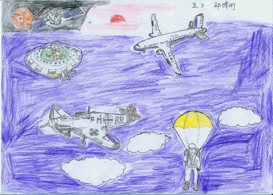 小朋友飞机作品