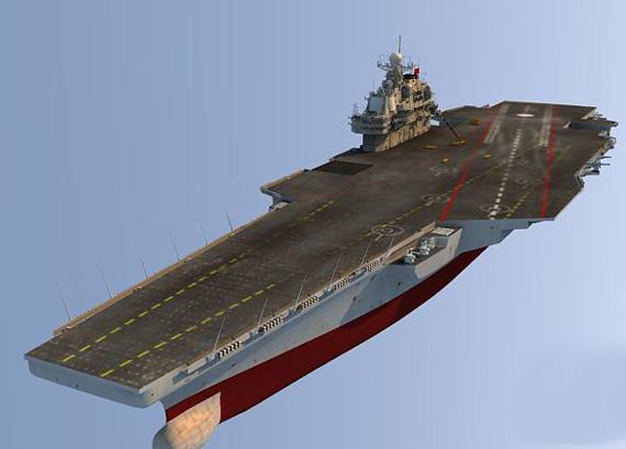 中国海军未来重型航母设想图